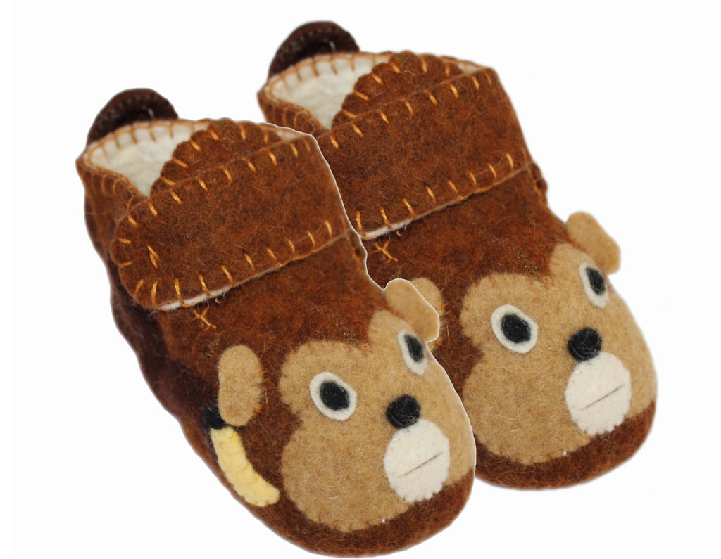 Toddler's Monkey Slippers