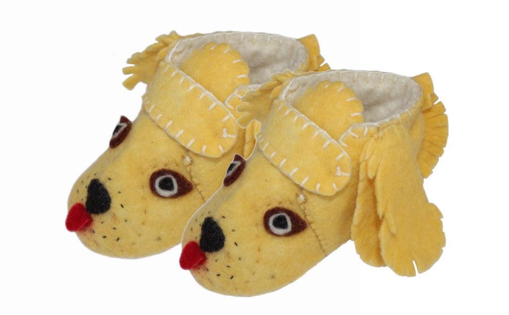 Toddler's Golden Retriever Slippers