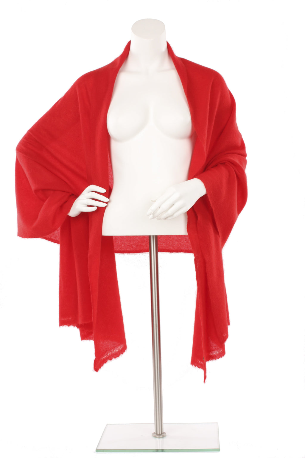 Red Cashmere Oversized Scarf
