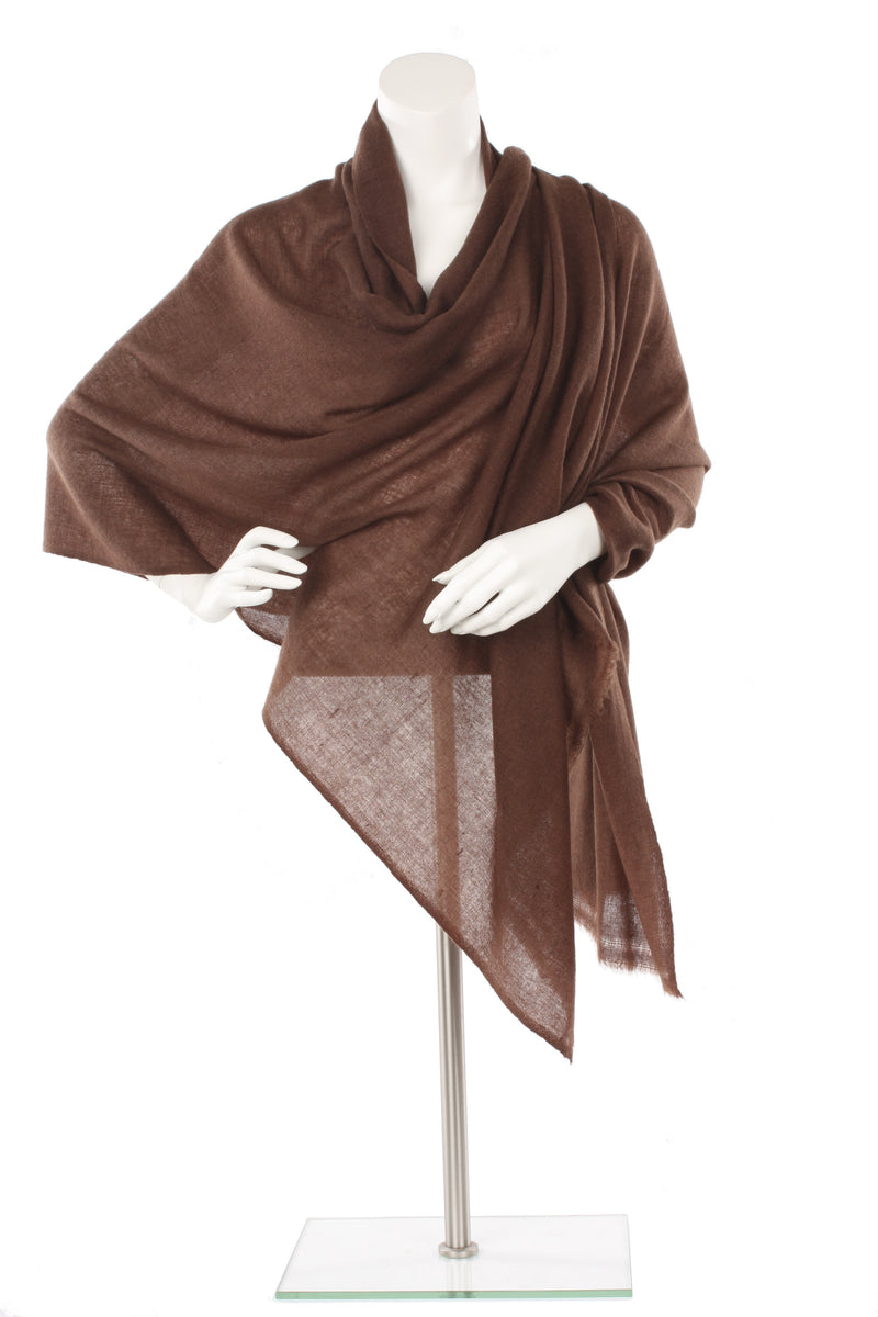 Chocolate Cashmere Oversized Scarf