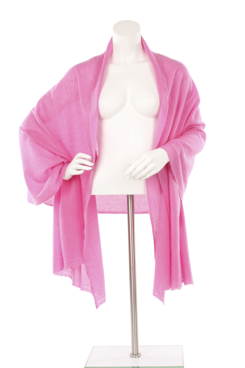 Musk Pink Cashmere Oversized Scarf