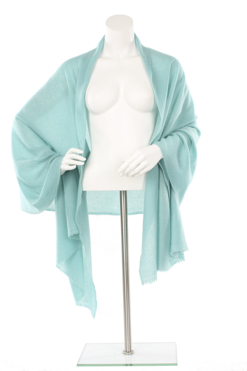 Spruce Green Cashmere Oversized Scarf