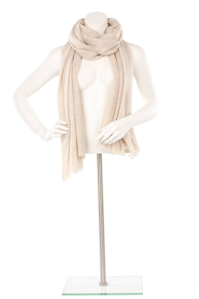 Natural Cashmere Oversized Scarf