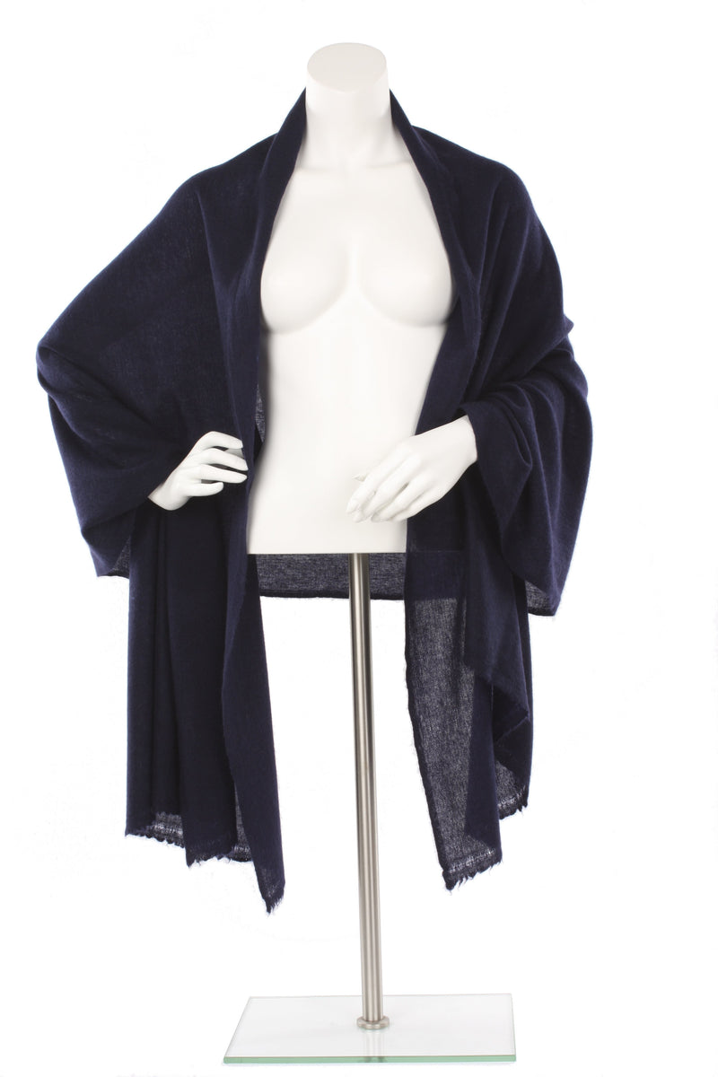 Midnight Cashmere Oversized Scarf