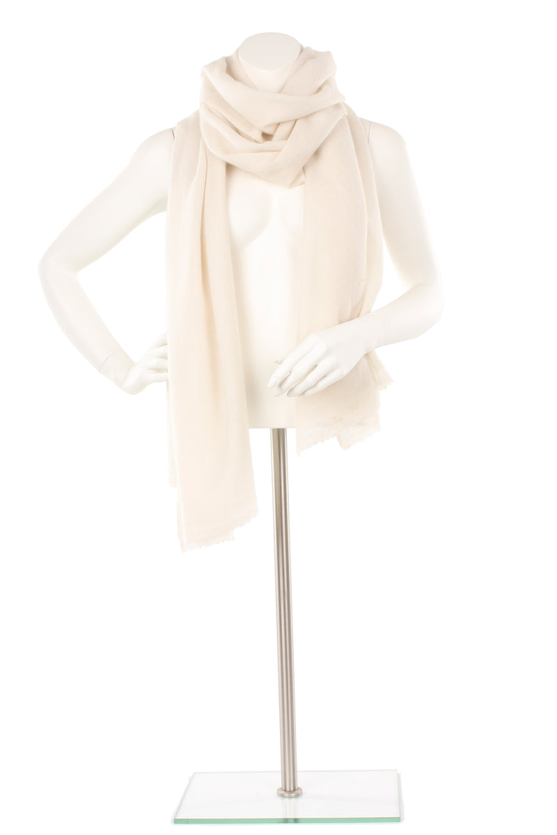 Cream Cashmere Oversized Scarf