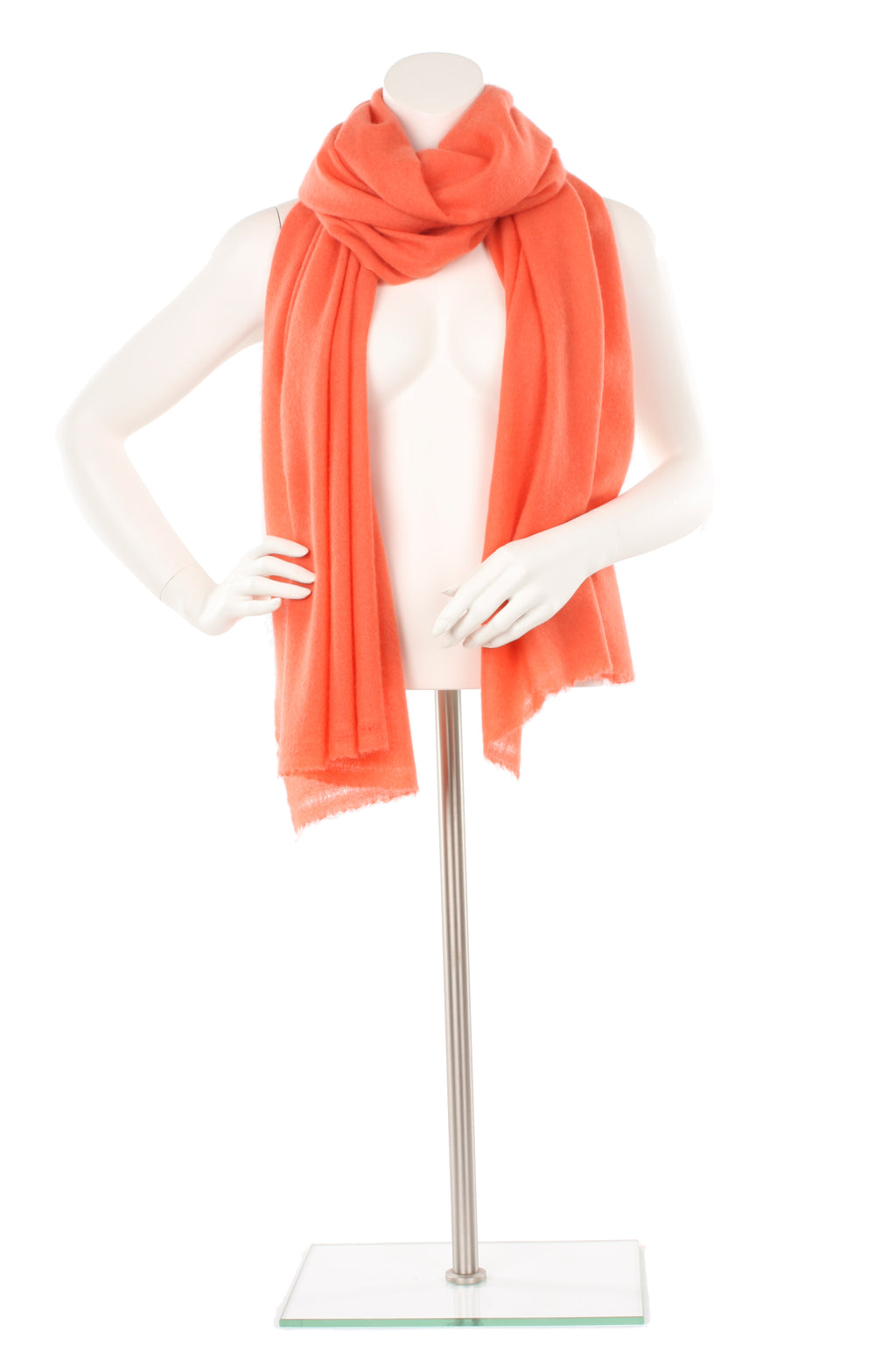 Coral Cashmere Oversized Scarf