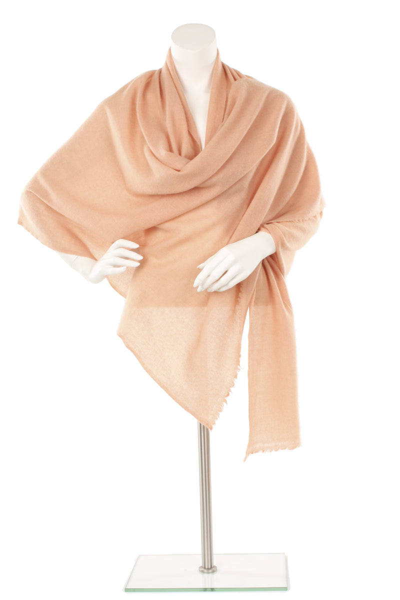 Light Salmon Cashmere Oversized Scarf