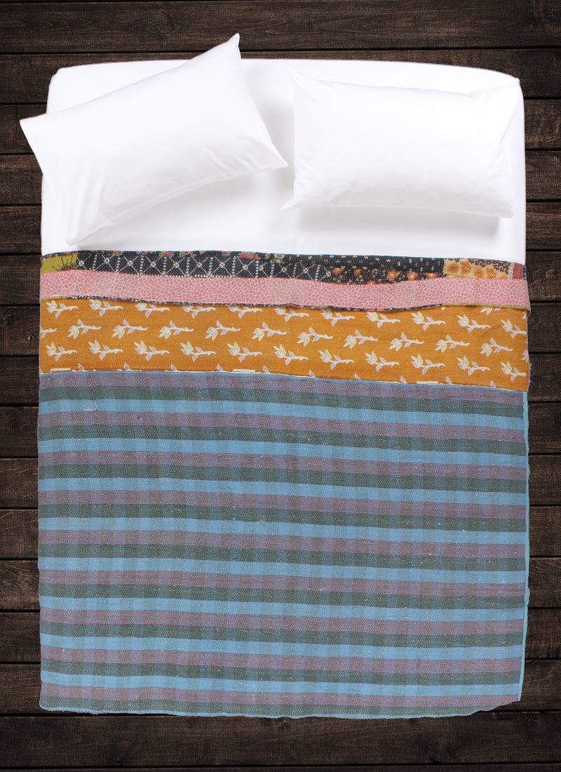 Darjeeling Kantha Throw