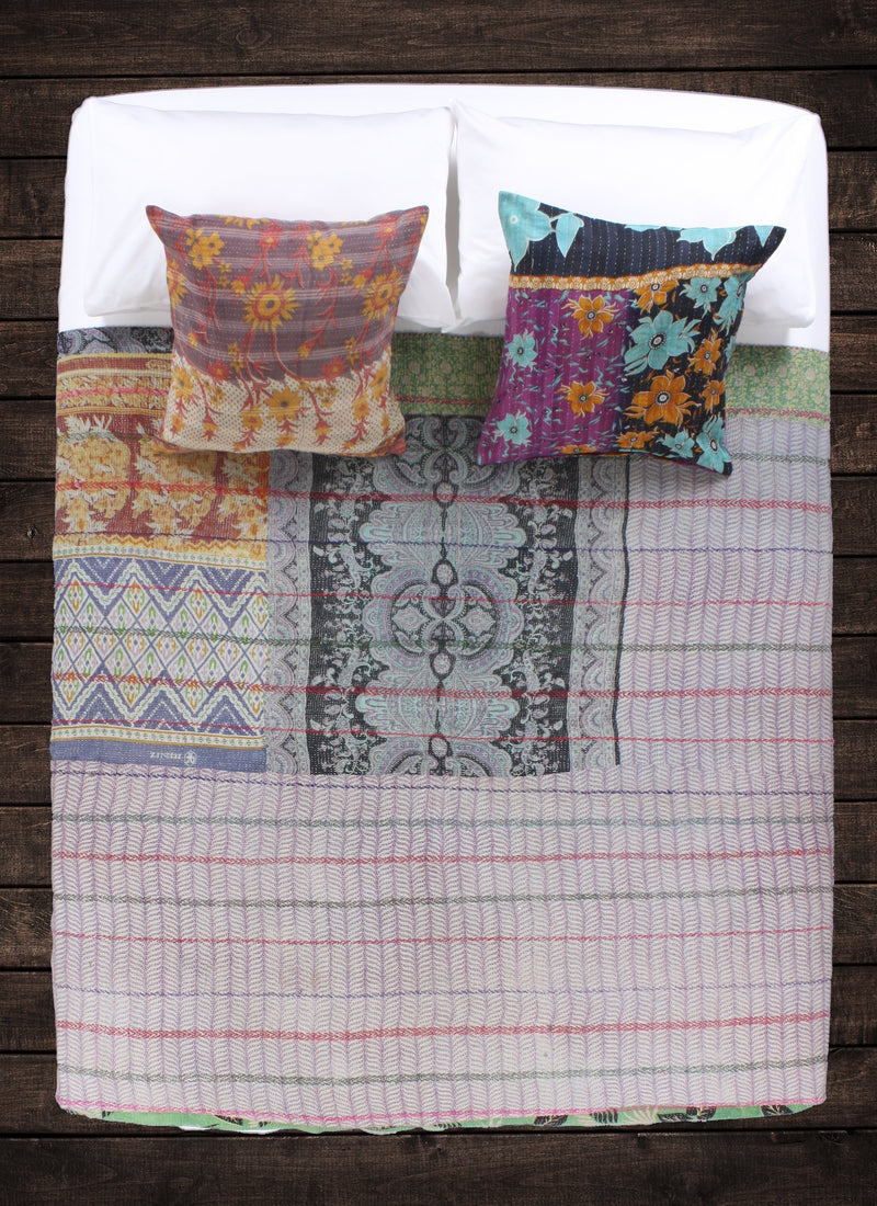 New Penzance Kantha Throw