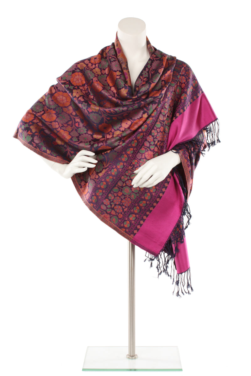 Art Deco Columbine Silk Wrap