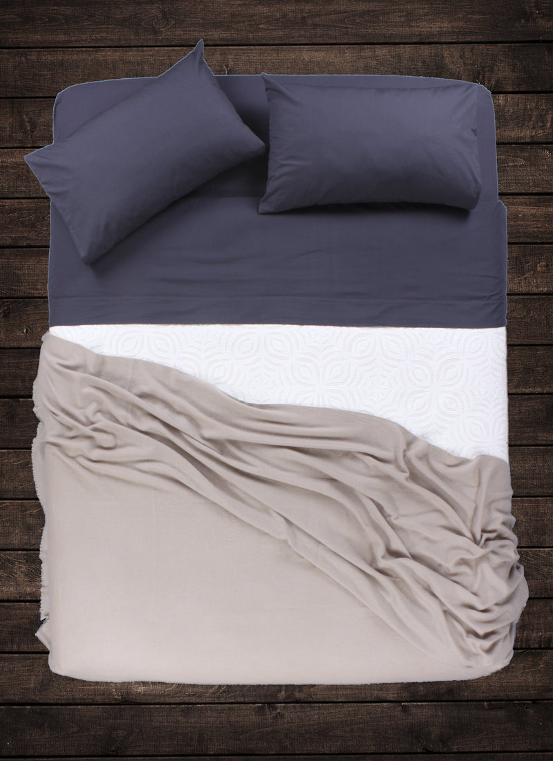 Light Taupe Cashmere Throw