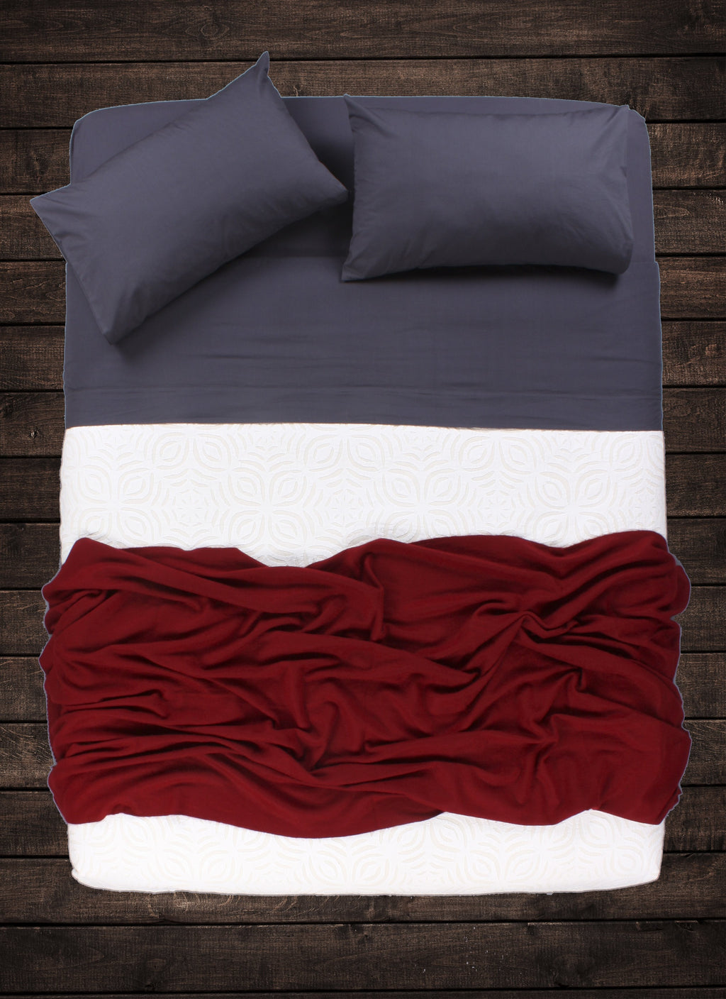 Maroon Cashmere Throw