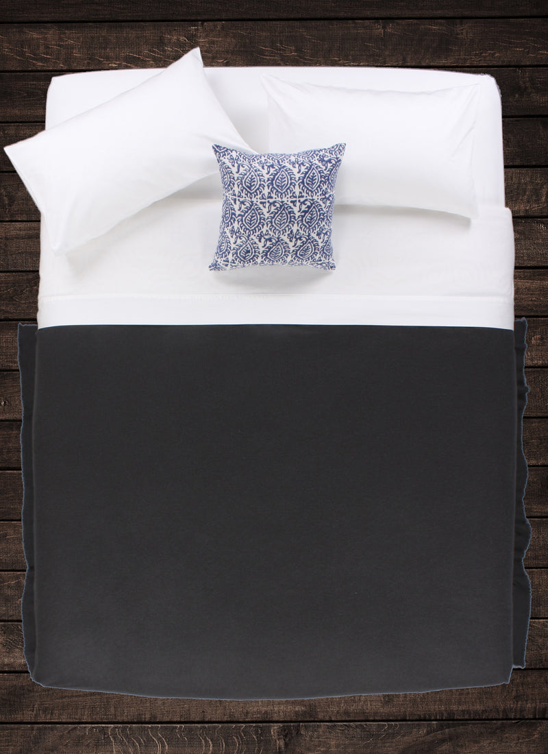 Charcoal Cashmere Throw
