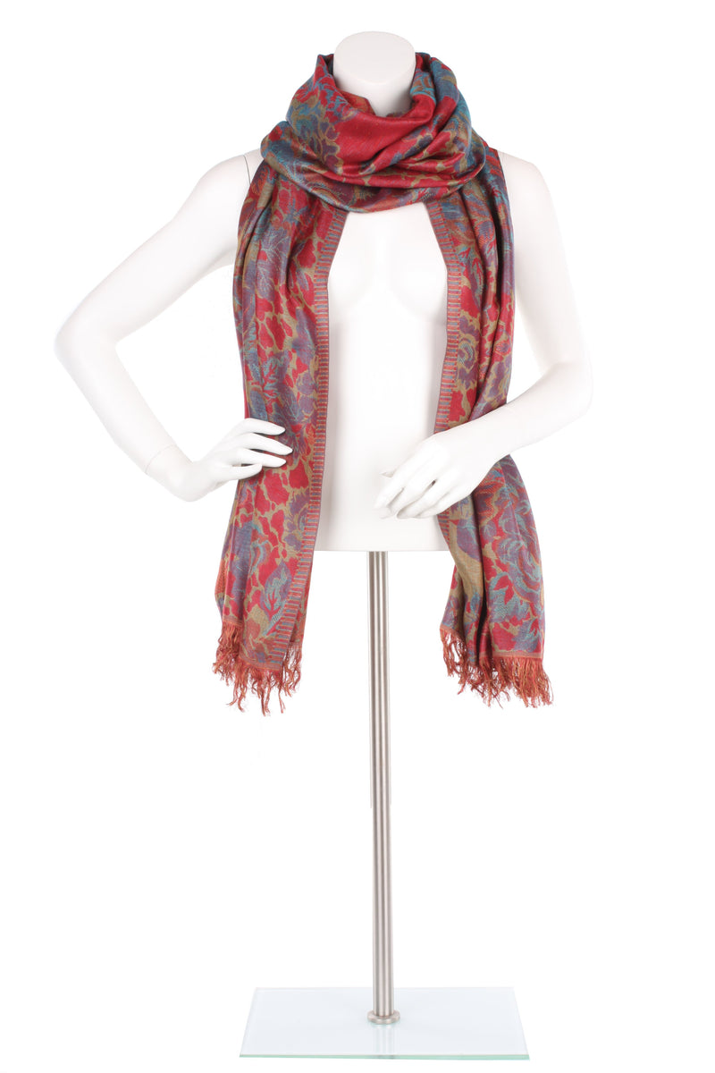 Ruby Arbor Silk Wrap