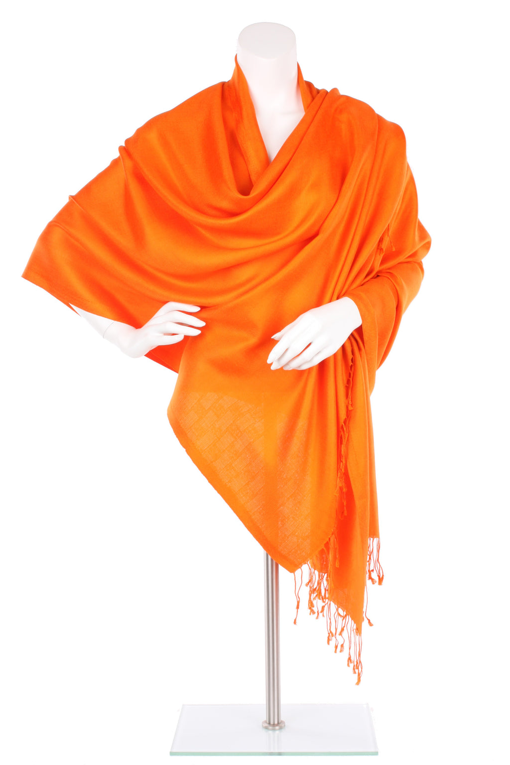 Brilliant Orange Silk Wrap