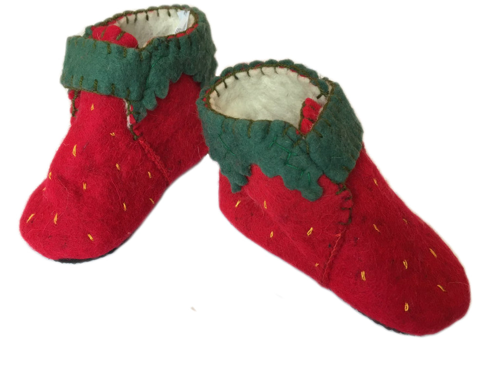 Toddler's Strawberry Slippers