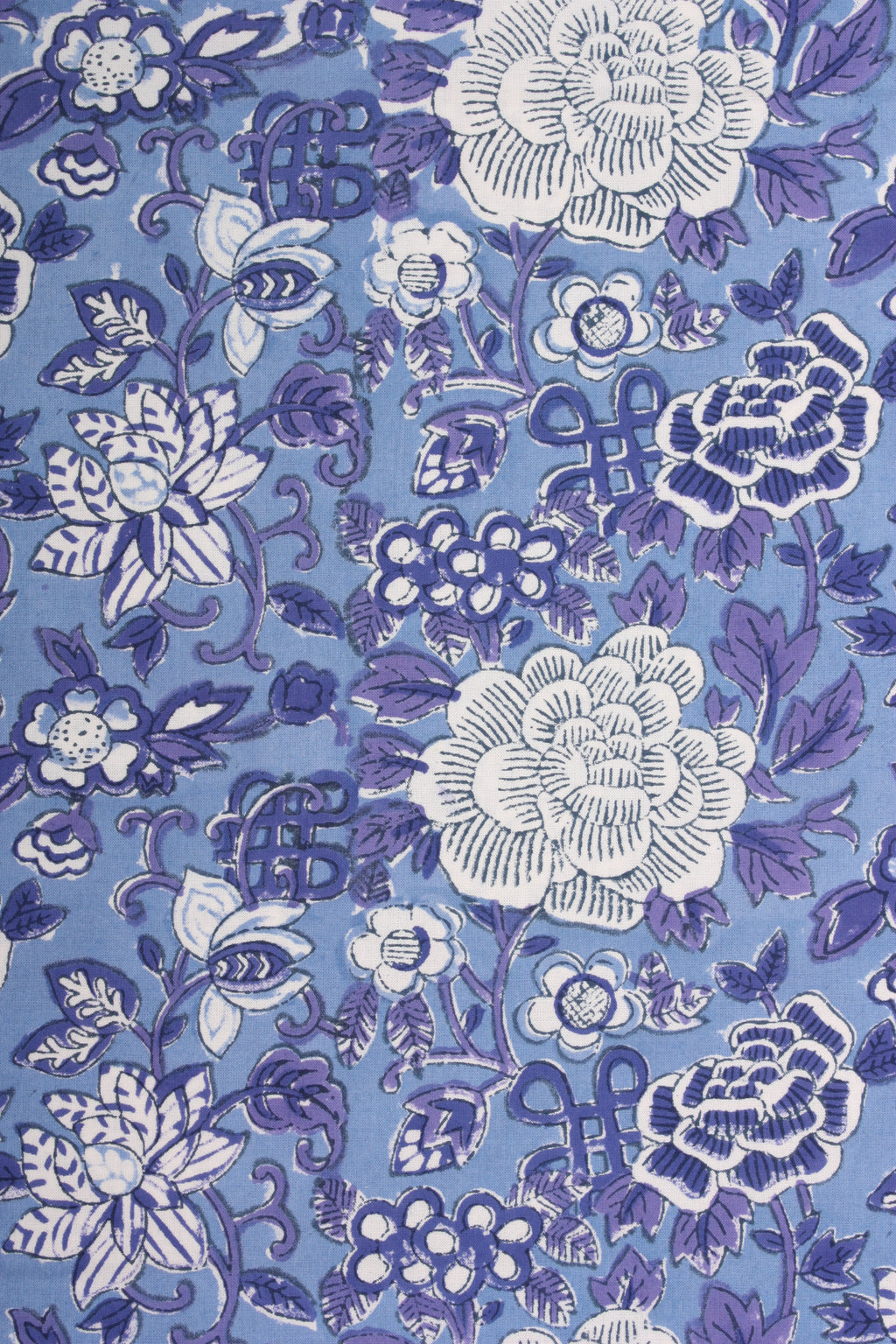 Queen Flat Sheet - Oriental Floral Blue