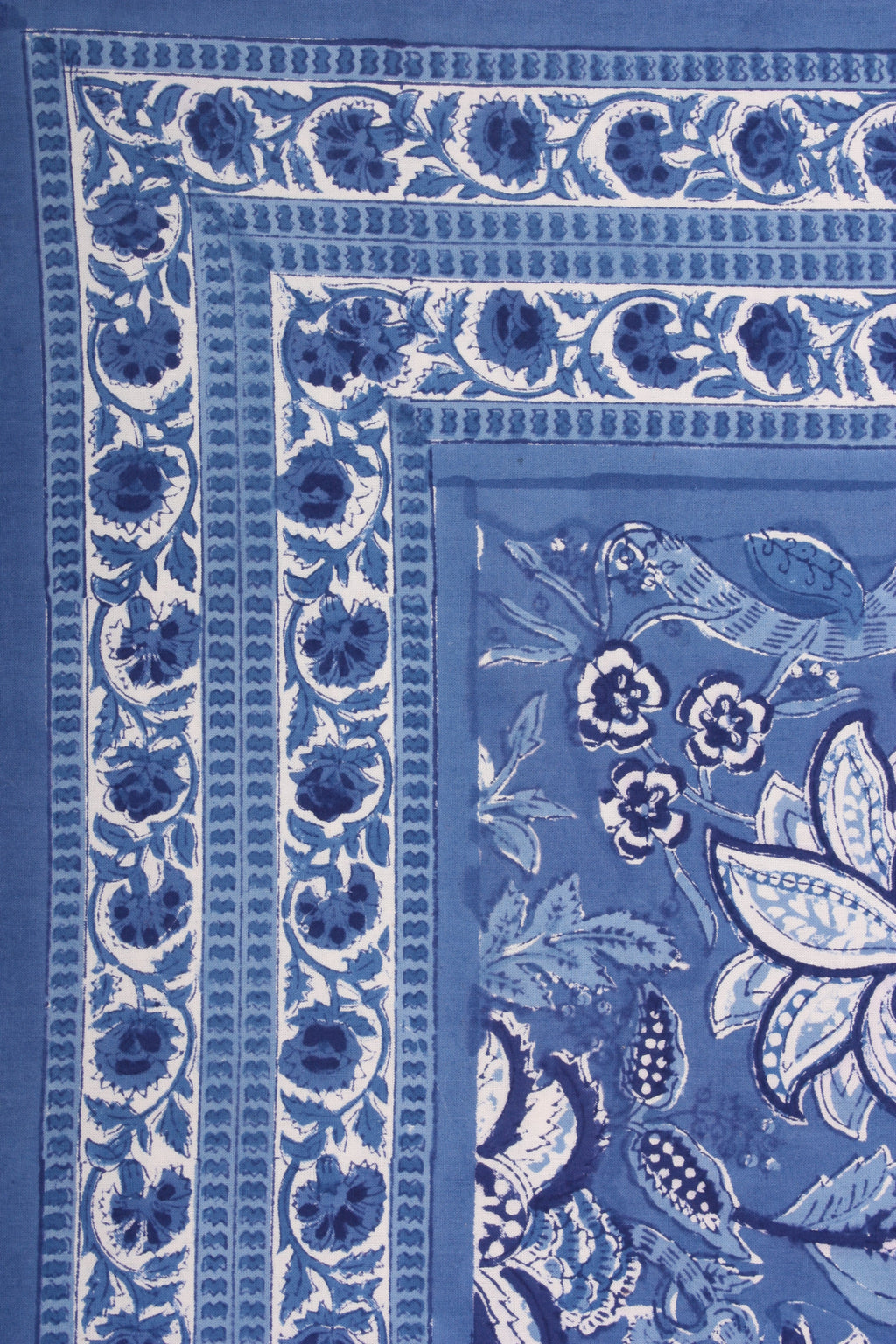 Blue Eden Square Tablecloth