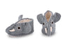 Grey Elephant Baby Booties