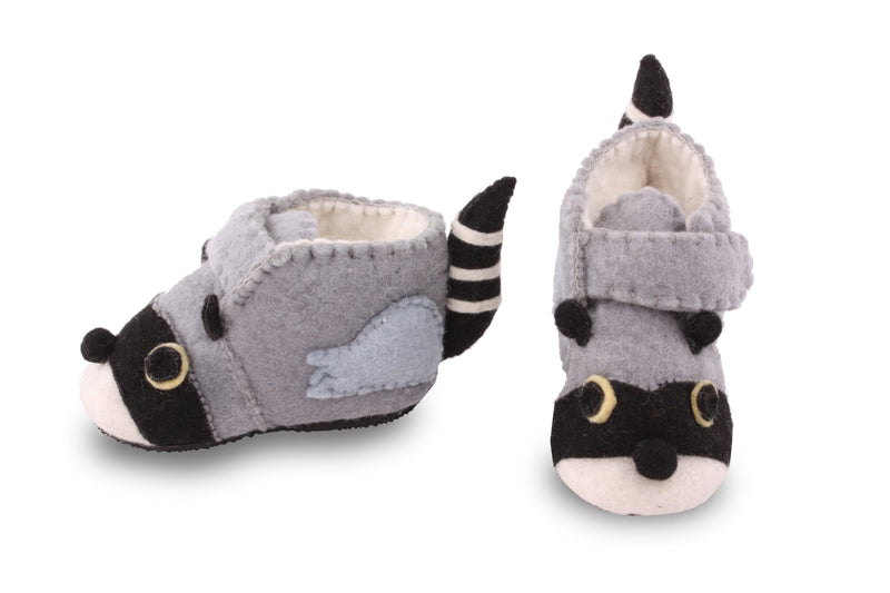 Toddler's Raccoon Slippers