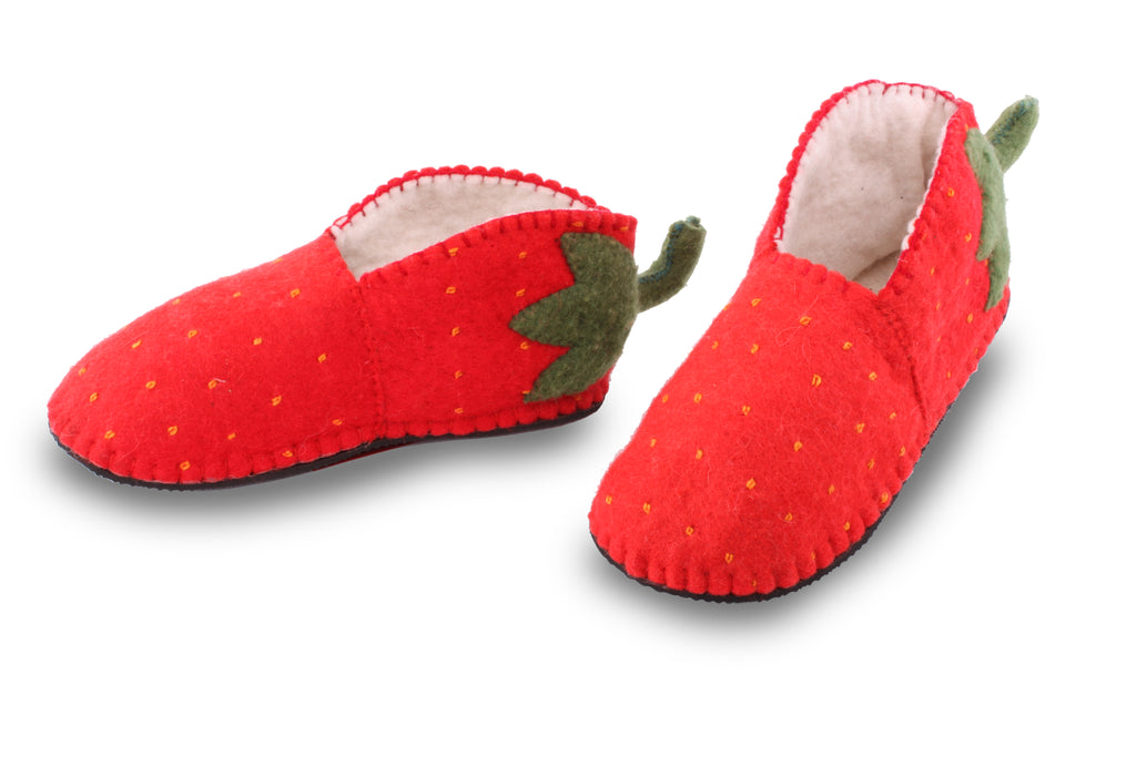 Adult's Strawberry Slippers