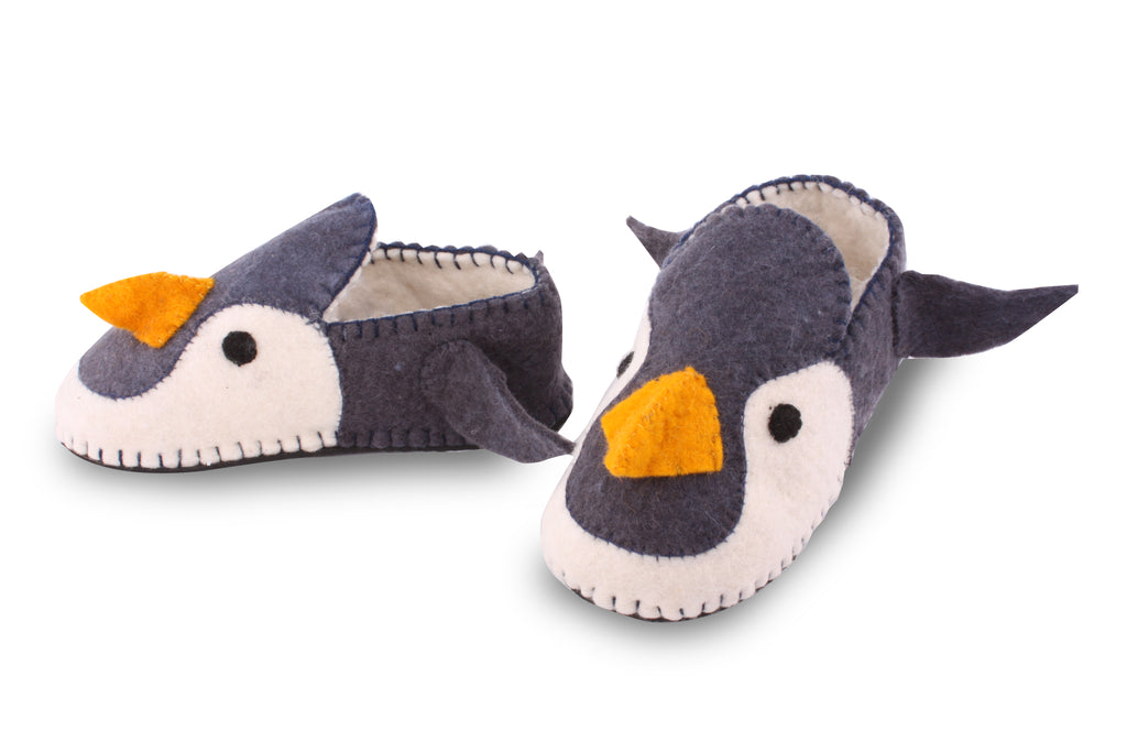Adult's Penguin Slippers