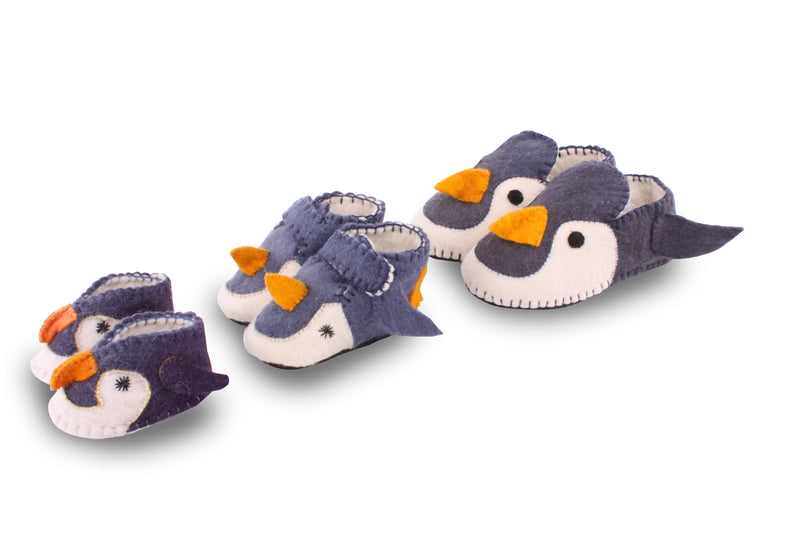 Penguin Baby Booties