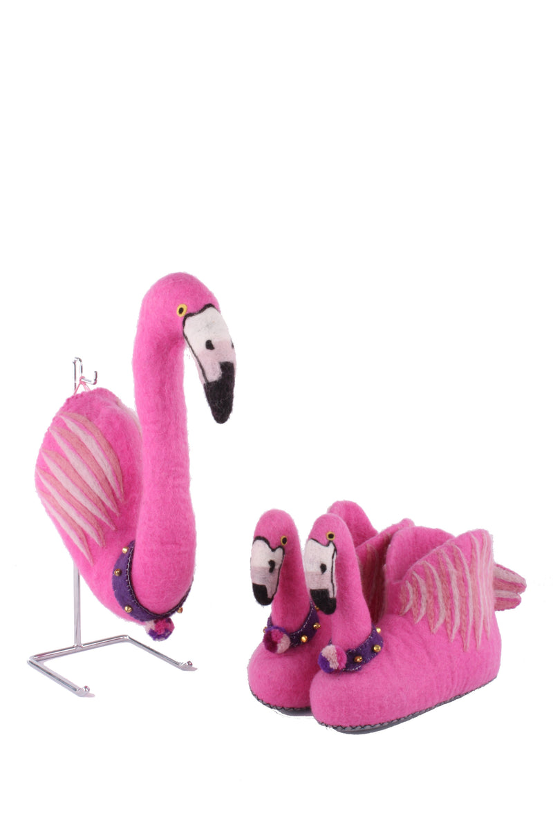 Mounted Flamingo Head