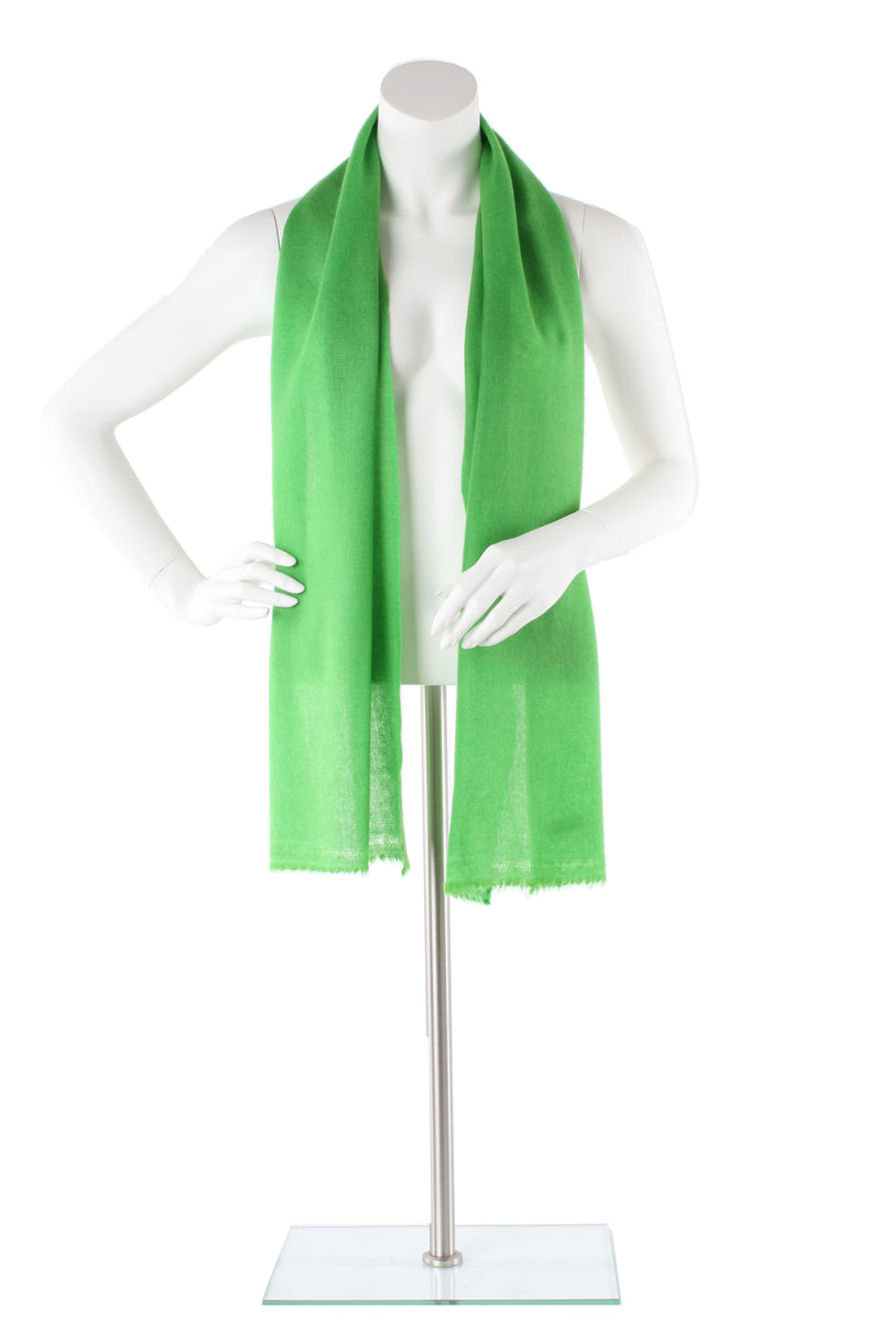 Vivid Green Cashmere Scarf