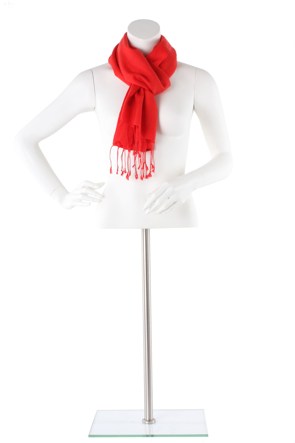 Scarlet Cashmere and Silk Scarf