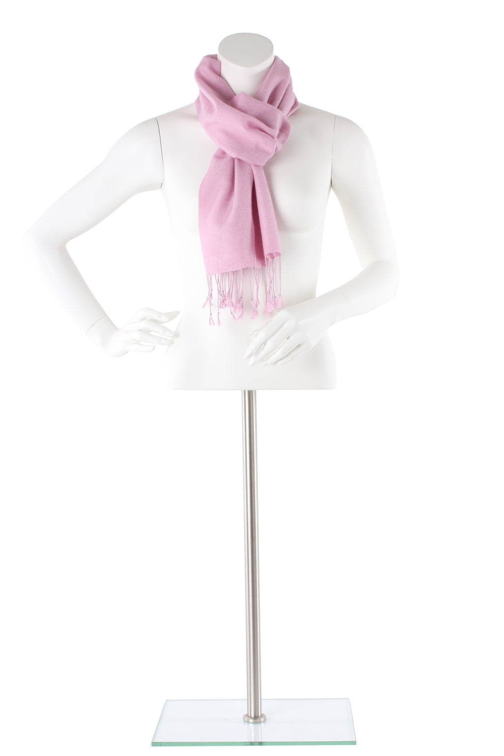 Carnation Pink Cashmere and Silk Scarf