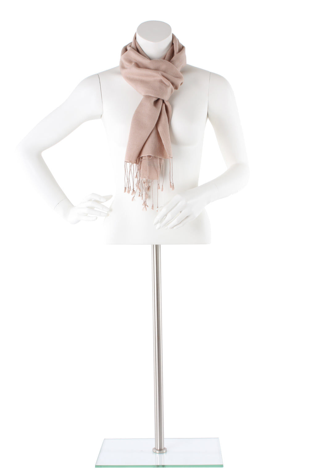 Buff Cashmere and Silk Scarf