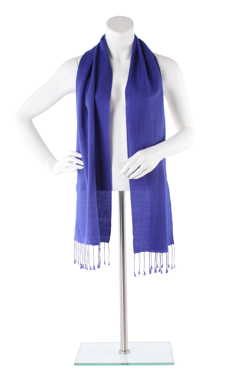 Royal Blue Cashmere and Silk Scarf