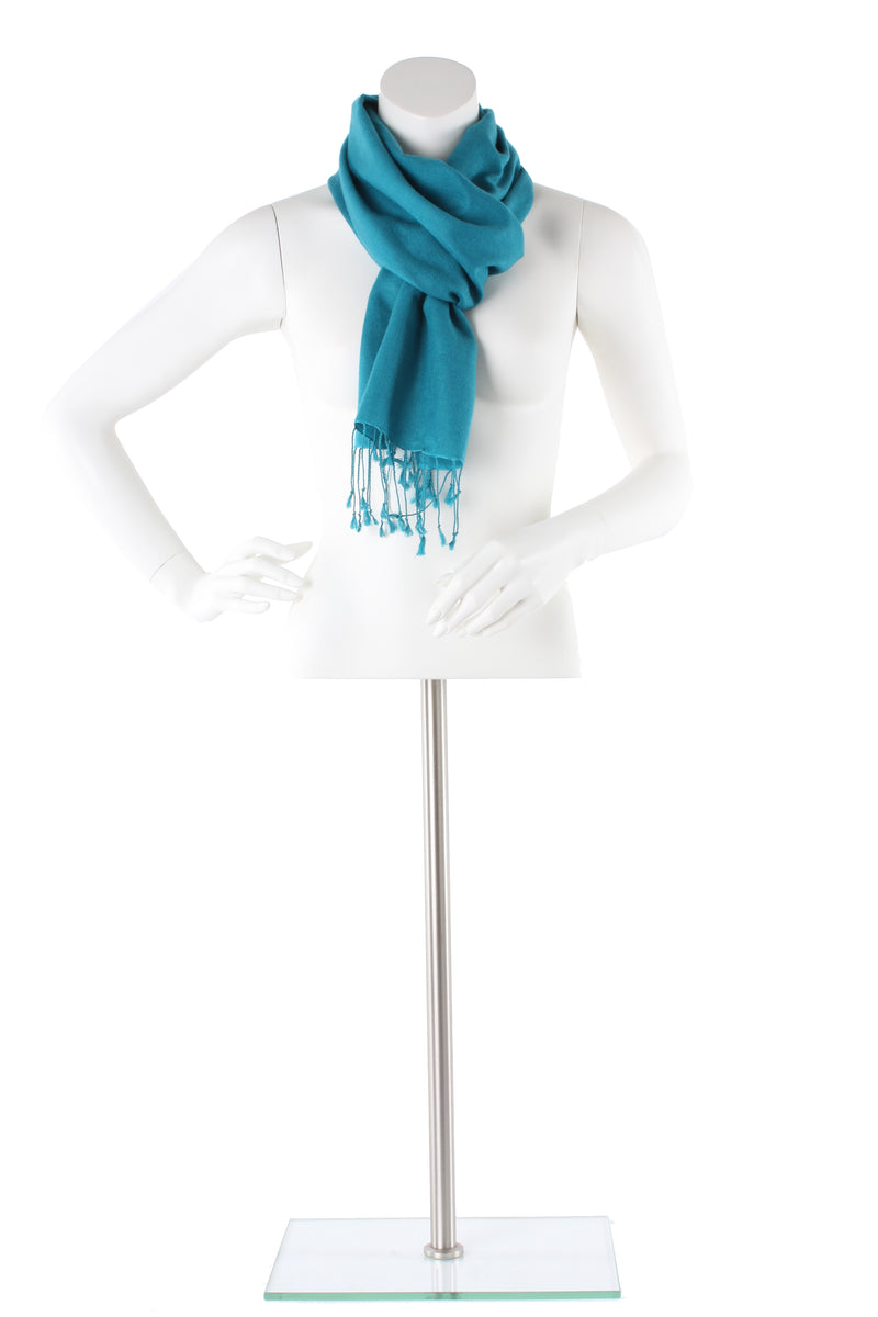 Titan Blue Green Cashmere and Silk Scarf