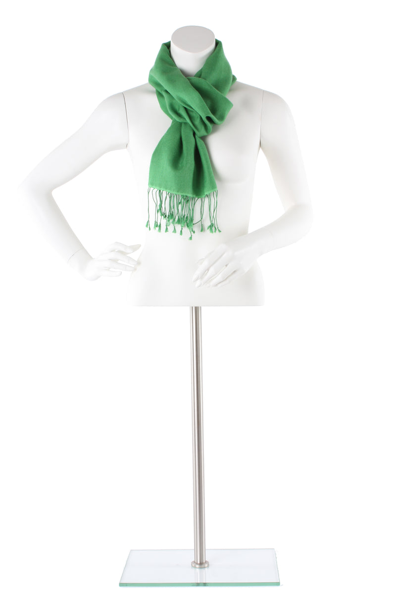 Emerald Cashmere and Silk Scarf