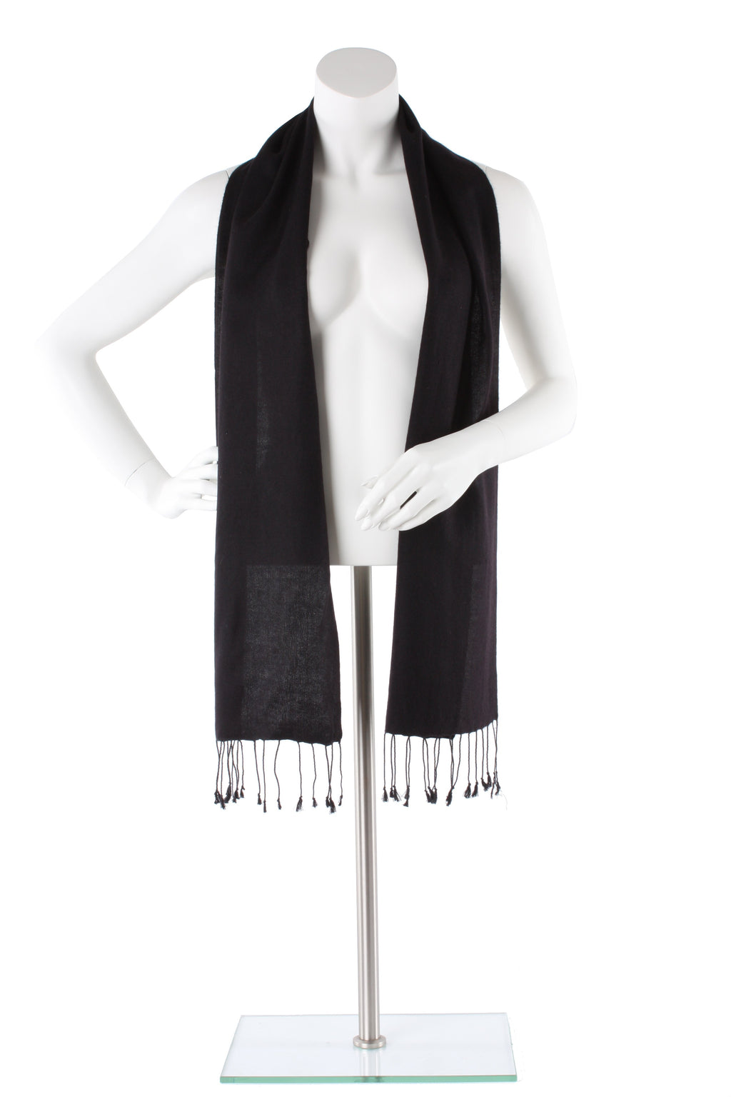 Black Cashmere and Silk Scarf