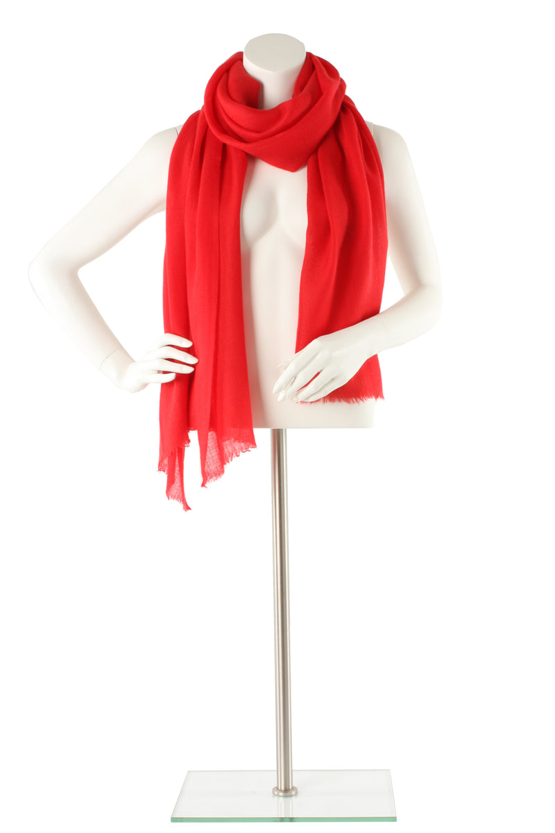 Raspberry Diamond Cashmere Oversized Scarf