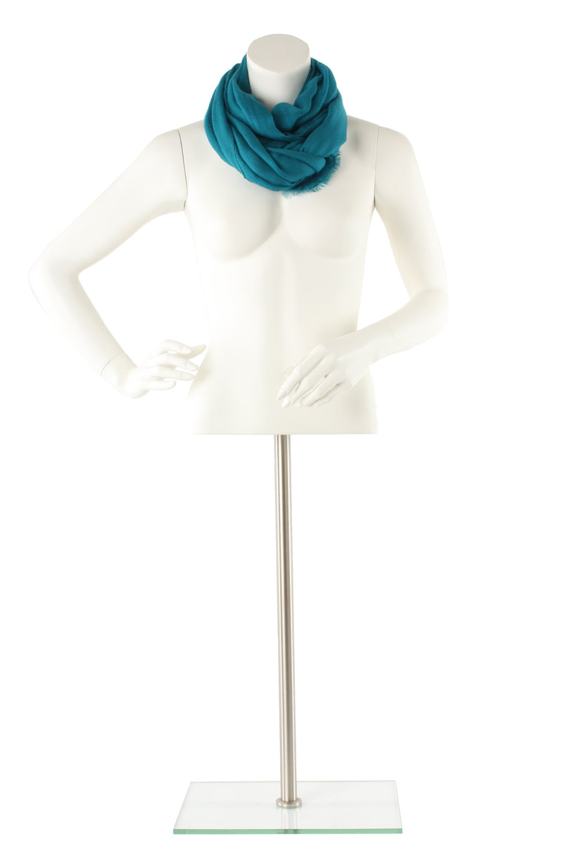 Teal Blue Luxe Cashmere Oversized Scarf