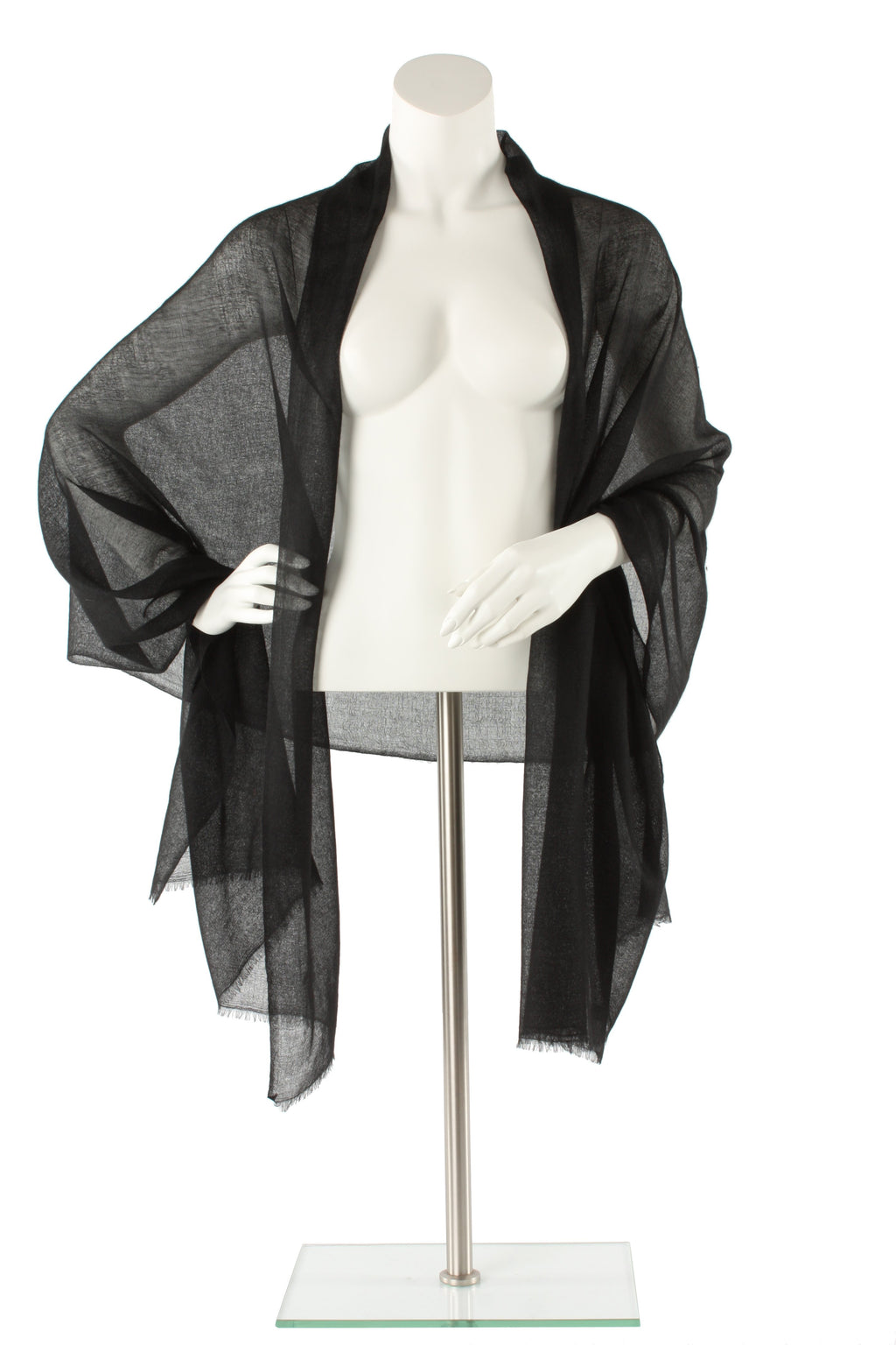 Black Luxe Cashmere Oversized Scarf