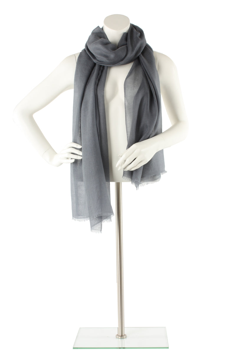 Grey Luxe Cashmere Oversized Scarf