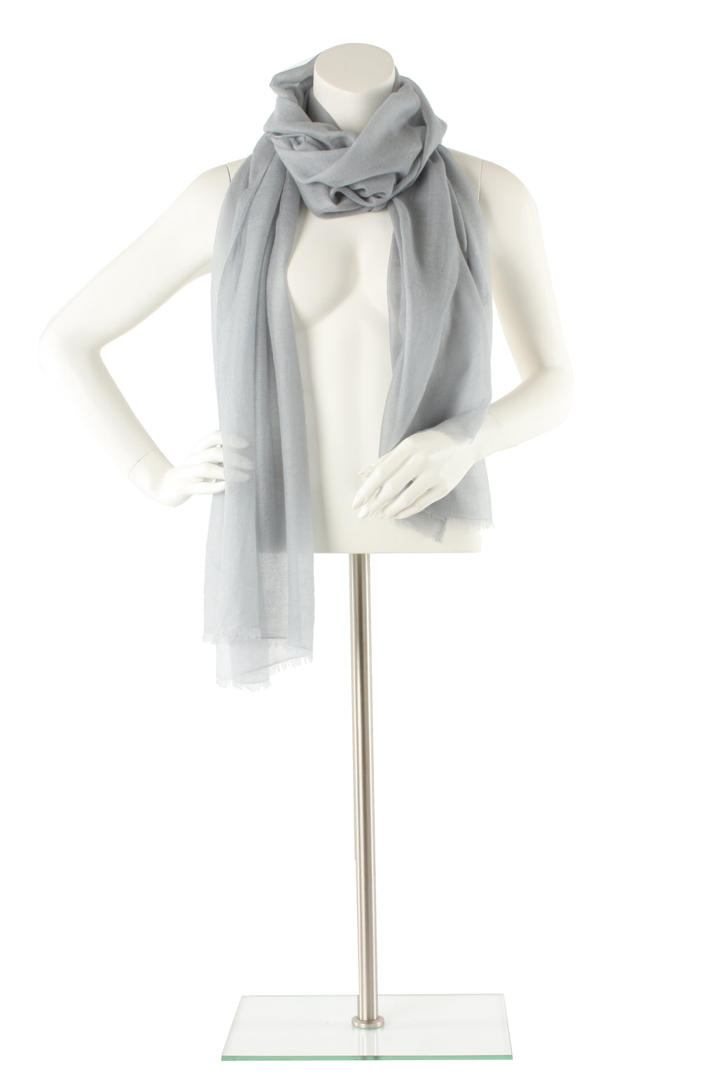 Pale Smoke Luxe Cashmere Oversized Scarf