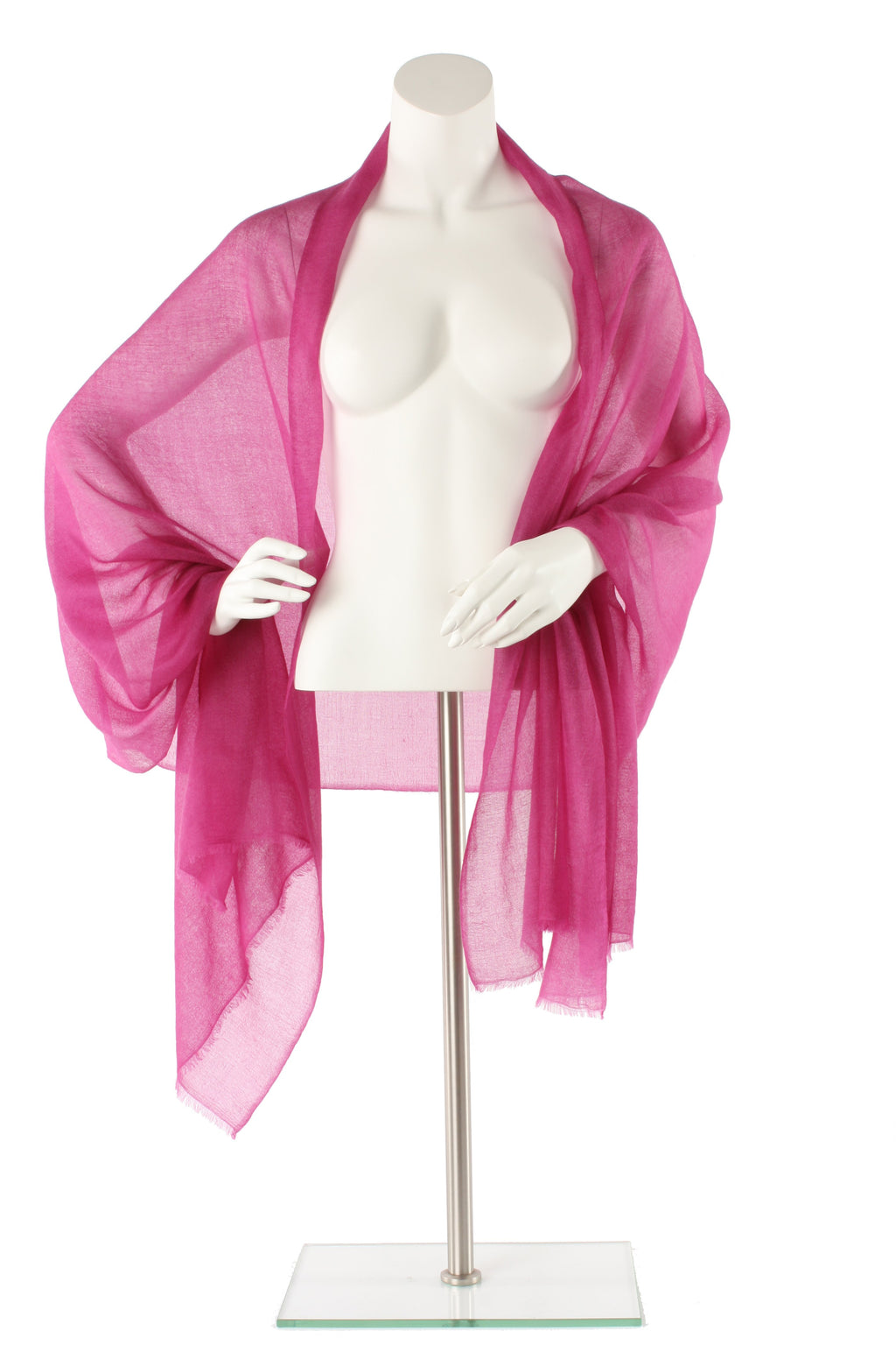 Tyrian Purple Luxe Cashmere Oversized Scarf