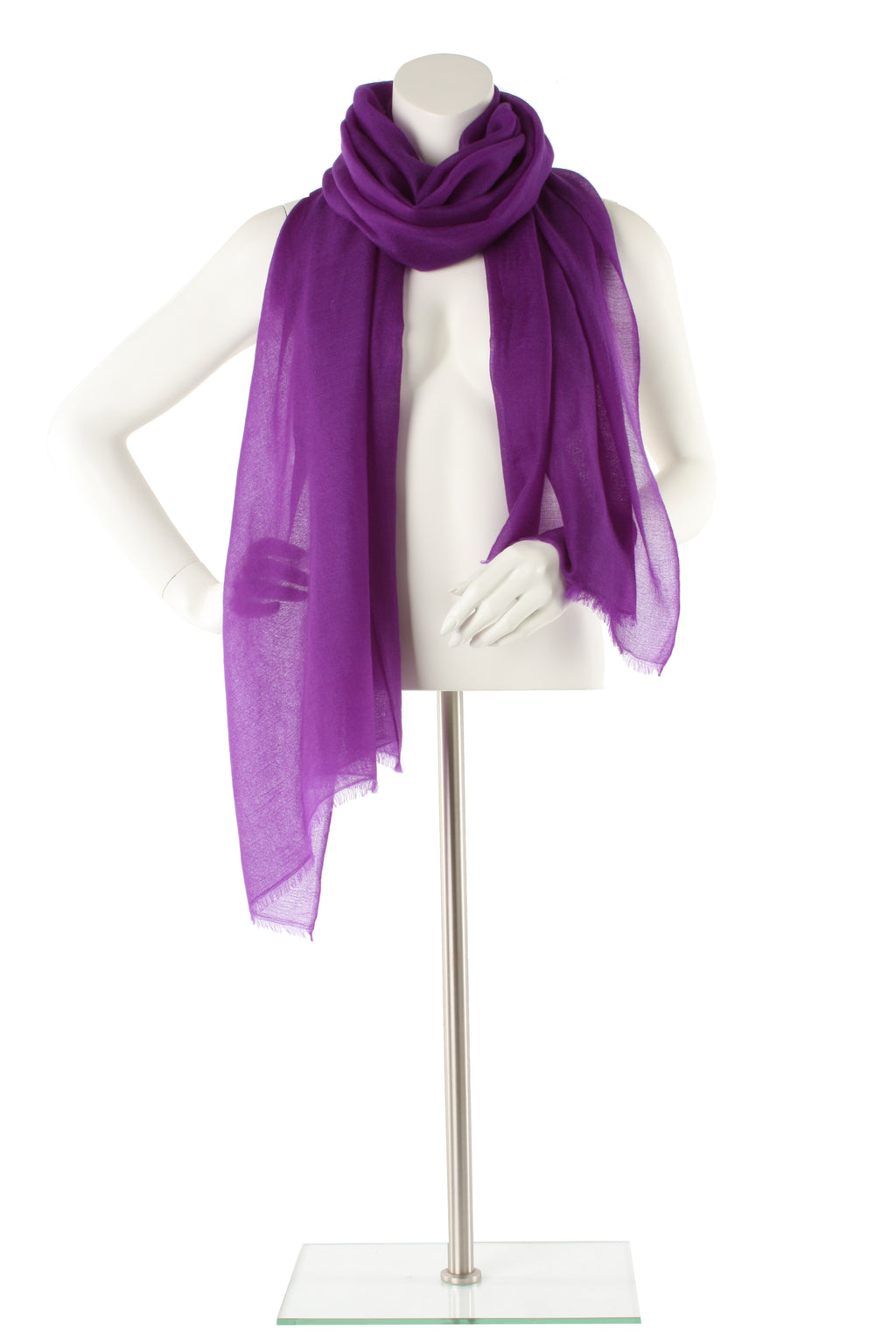 Purple Luxe Cashmere Oversized Scarf
