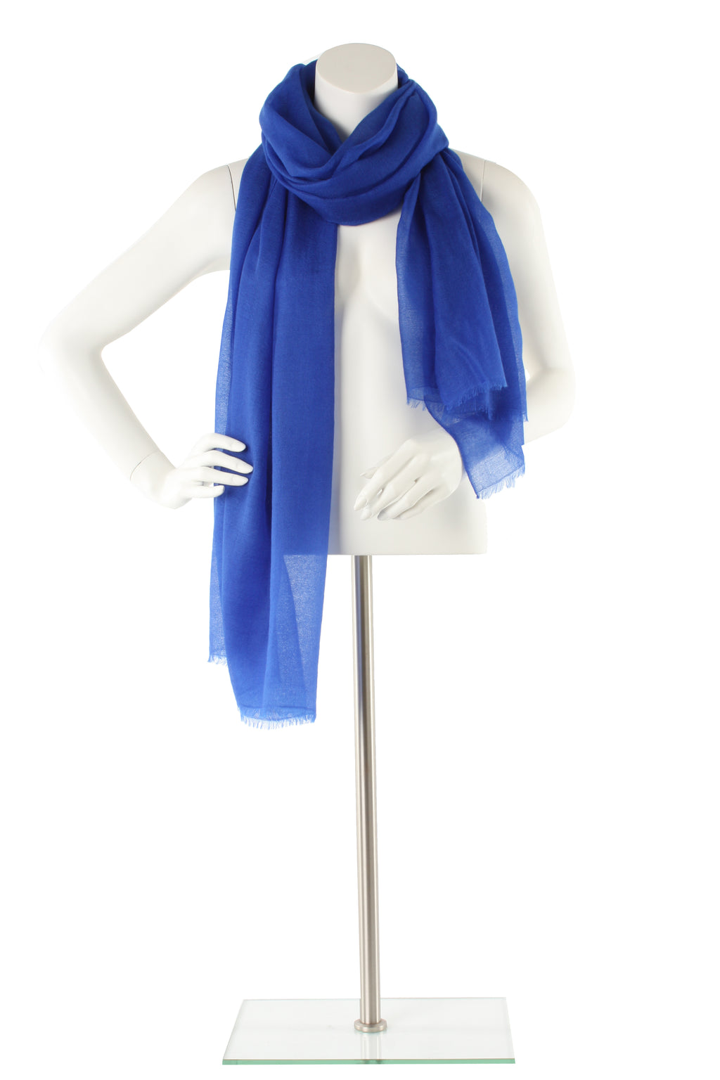 Cobalt Luxe Cashmere Oversized Scarf