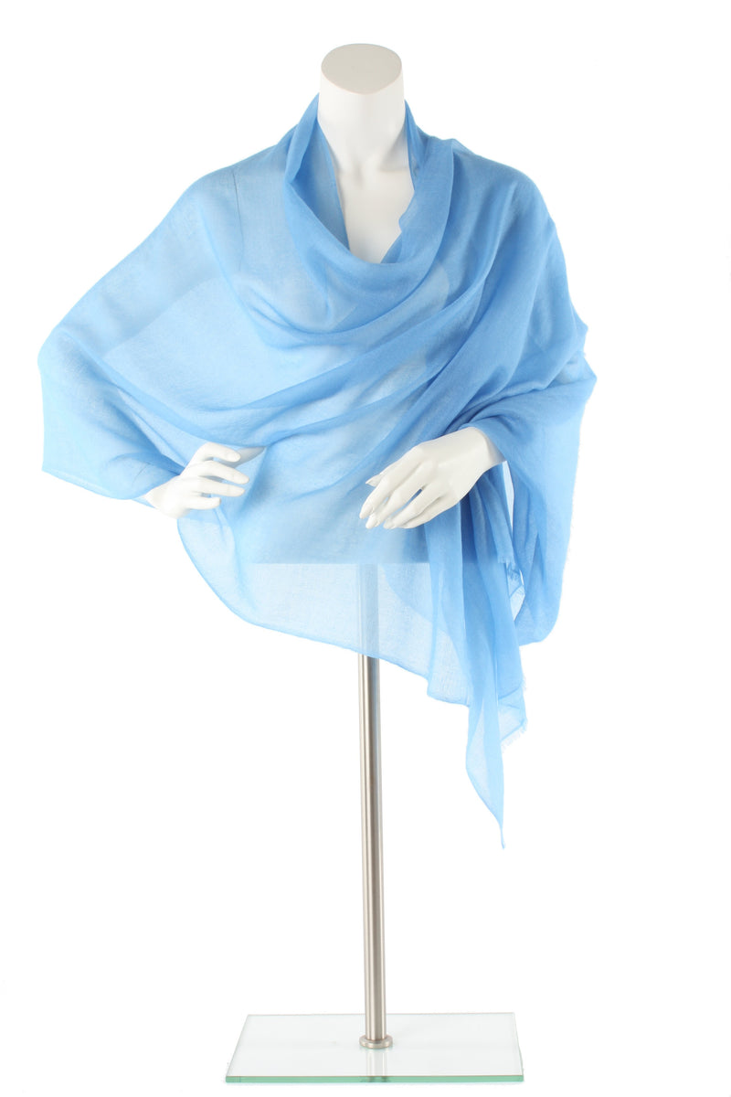 Pale Blue Luxe Cashmere Oversized Scarf
