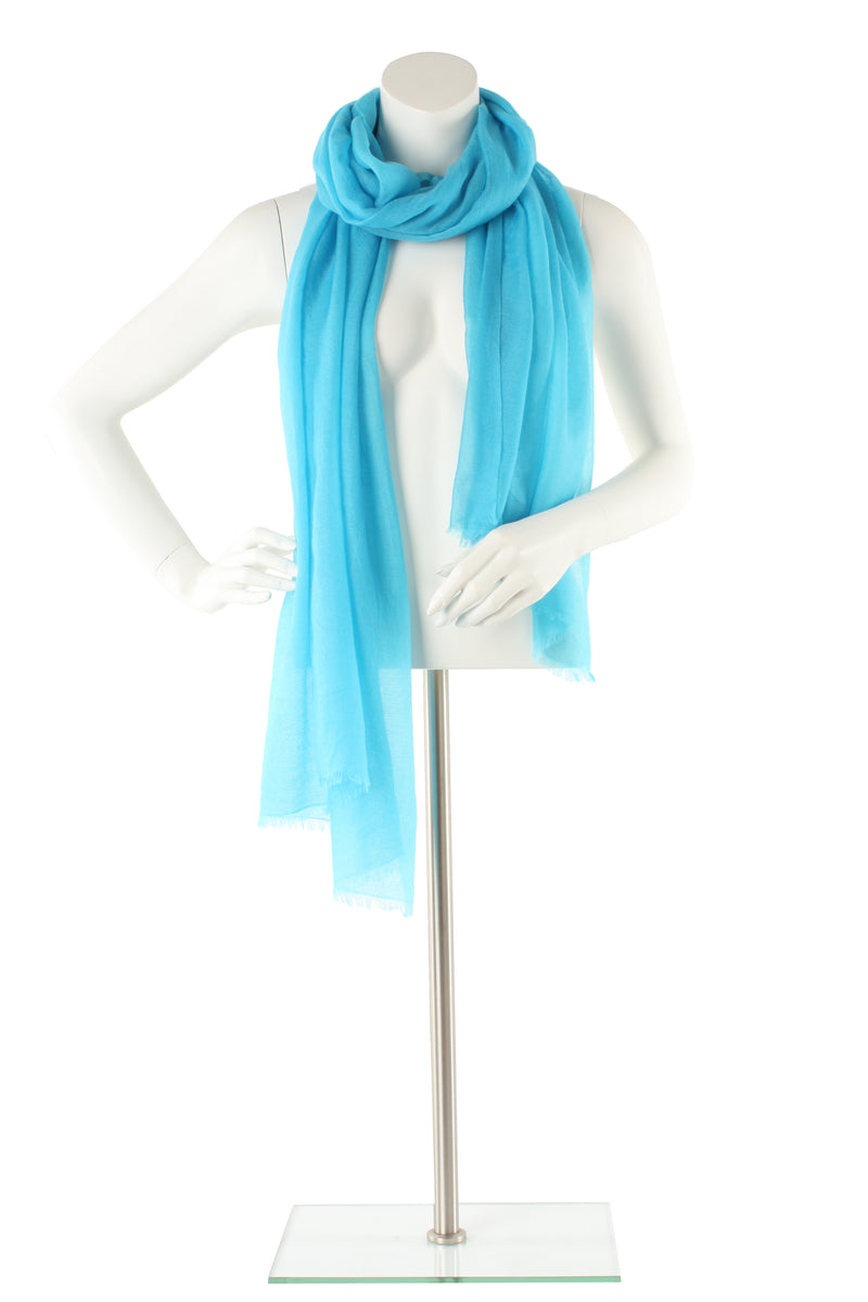 Bright Blue Luxe Cashmere Oversized Scarf
