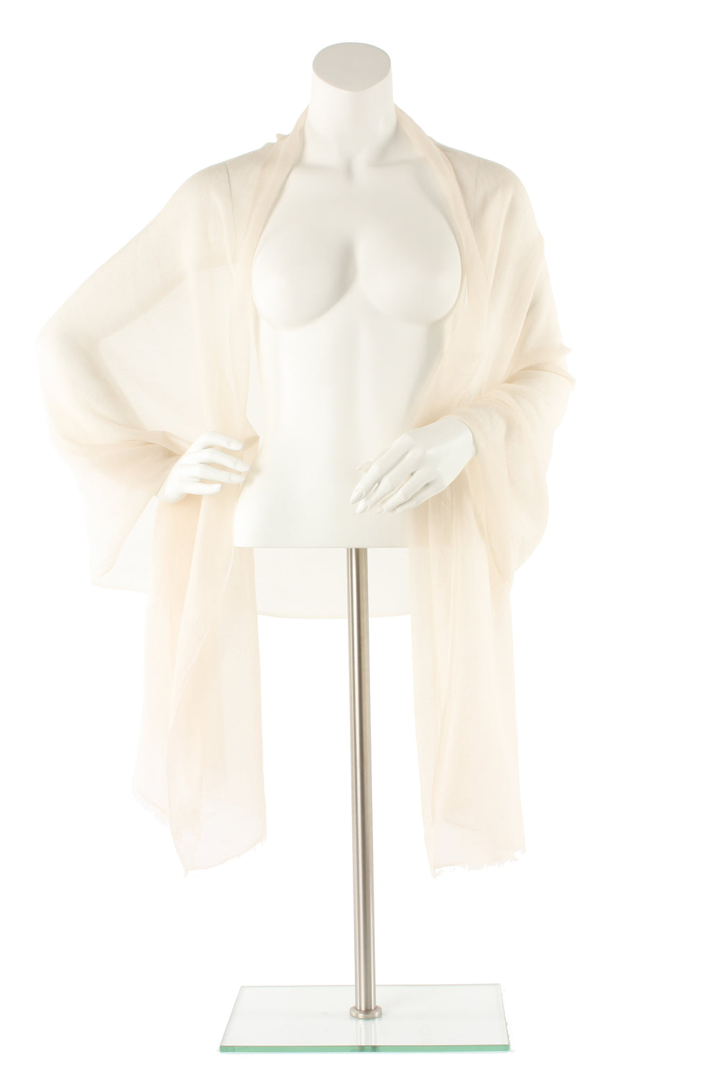Cream Luxe Cashmere Oversized Scarf