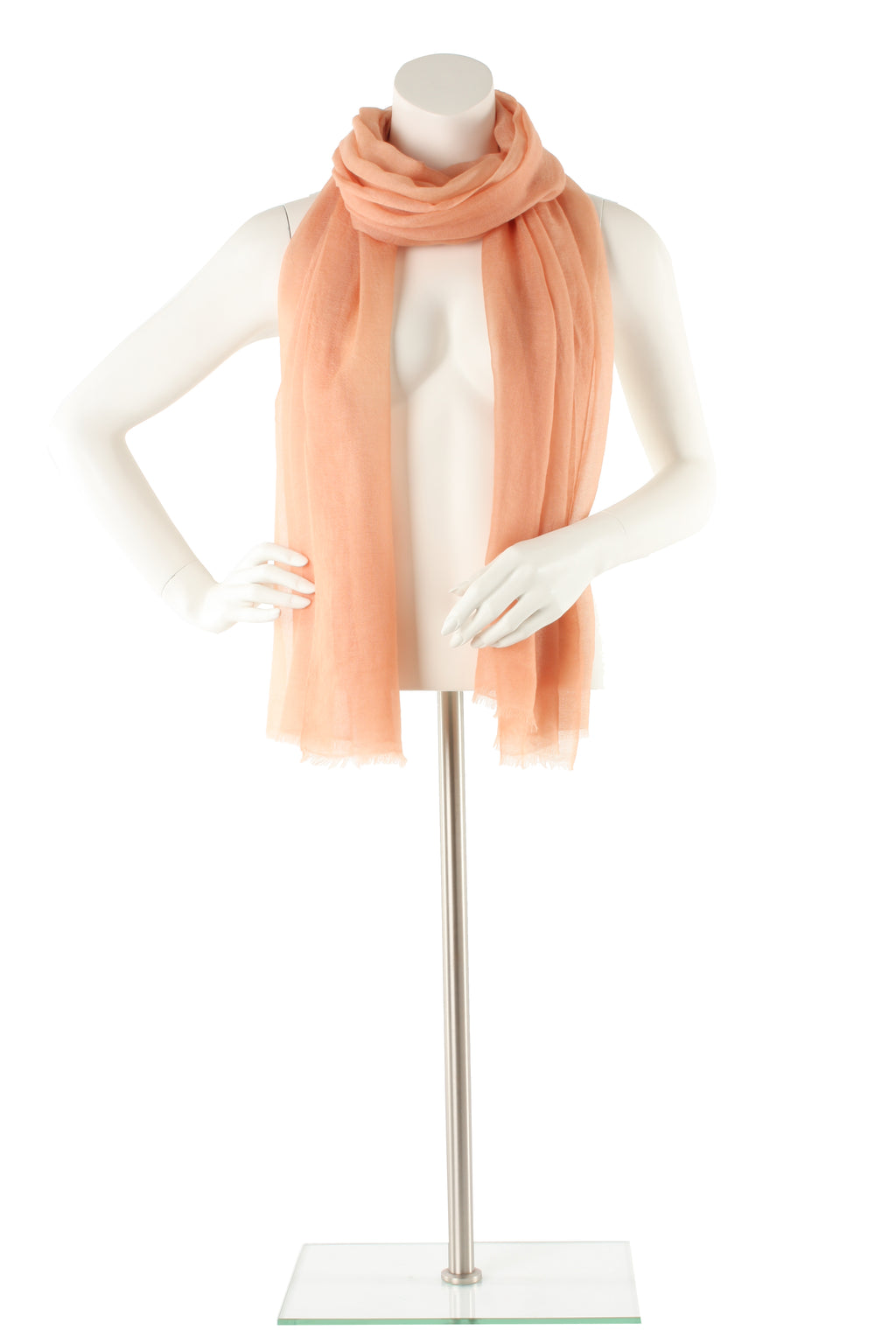 Light Salmon Luxe Cashmere Oversized Scarf