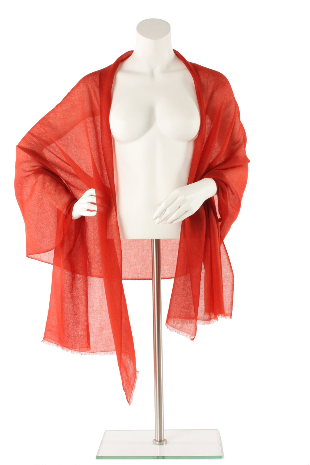 Terracotta Luxe Cashmere Oversized Scarf