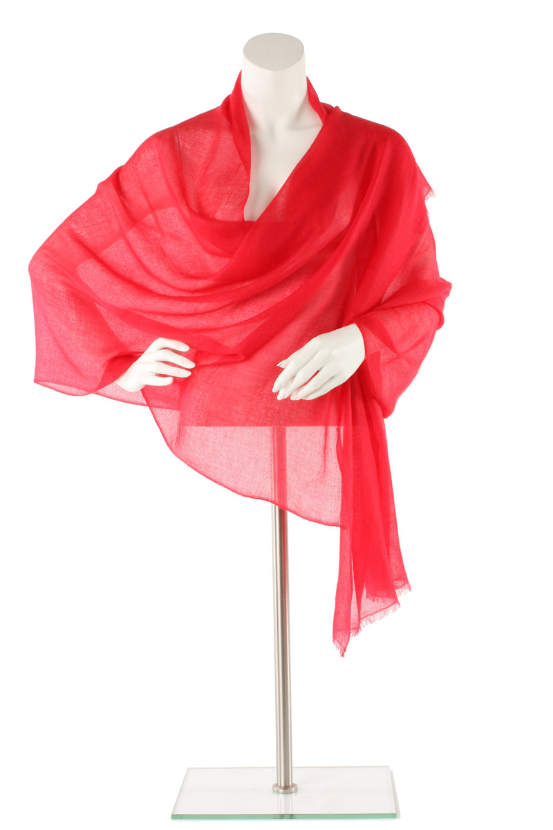 Raspberry Luxe Cashmere Oversized Scarf